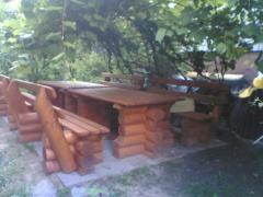 Мебель деревянная садовая, фото