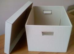 Boxes for textiles