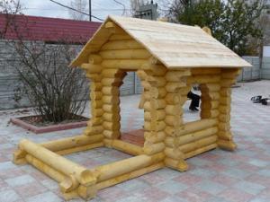 Детские домики из бревна, бруса