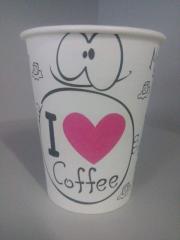 """Одноразовые бумажные стаканы 240 мл  """"I love coffee"""""""