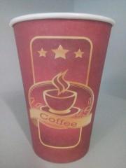 """Бумажные стаканчики 340 мл """"Чашка кофе"""""""