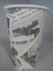 """Стакан бумажный для горячих напитков """"Газетка"""" 340 мл"""