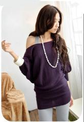 Фиолетовая блуза на широкой резинке 300400
