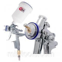 Профессиональный краскораспылитель HVLP II 1,3 мм, верхний пластиковый бачок 600 мл INTERTOOL PT-010 PT-0105