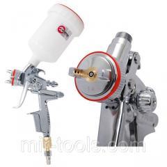 Профессиональный краскораспылитель HVLP II 1,4 мм, верхний пластиковый бачок 600 мл INTERTOOL PT-010 PT-0100