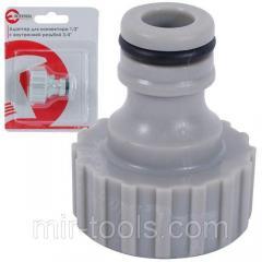 Адаптер для конектора 1/2 с внутренней резьбой 3/4 INTERTOOL GE-1008 Intertool