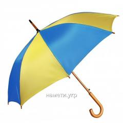 Umbrella cane semiautomatic device yellow-blu