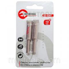 Коронка трубчатая по стеклу и керамике 10 мм (упаковка 2 шт) INTERTOOL SD-0347 Intertool на VSETOOLS.COM.UA