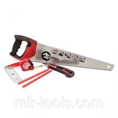 Набор инструмента столярный 6 ед. (ножовка, нож, карандаши, рулетка, угольник) INTERTOOL HT-3157 Int