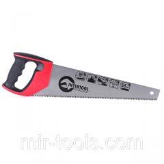 Ножовка по дереву 400 мм с каленым зубом, 3-ая заточка 7 зуб.x1 INTERTOOL HT-3104 Intertool