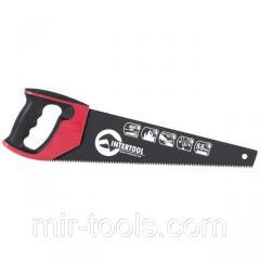 Ножовка по дереву 400 мм с тефлоновым покрытием, каленый зуб, 3-ая заточка INTERTOOL HT-3107 Interto