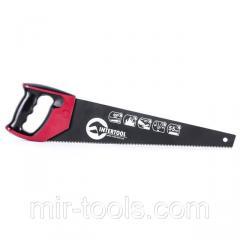 Ножовка по дереву 450 мм с тефлоновым покрытием, каленый зуб, 3-ая заточка INTERTOOL HT-3108 Interto