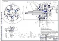 Патрон токарный пневматический трехкулачковый Ф160 D07449