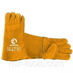 Перчатка замшевая 14 (желтая) (ящик 60 пар) INTERTOOL SP-0157W Intertool