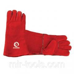 Перчатка замшевая 14 (красная) (ящик 60пар) INTERTOOL SP-0156W Intertool