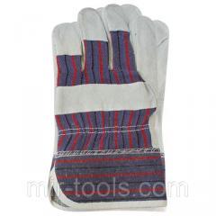 Перчатка замшевая комбинированная из цельного материала на ладони 10,5 INTERTOOL SP-0150 Intertool
