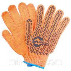 Перчатка хлопчатобумажная с резиновым вкраплением с одной стороны (ПВХ star) INTERTOOL SP-0135 Inter