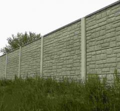 Заборы промышленные, заборы бетонные декоративные,
