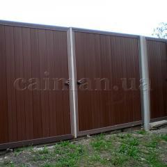 Забор пластиковый из доски и профиля ПВХ