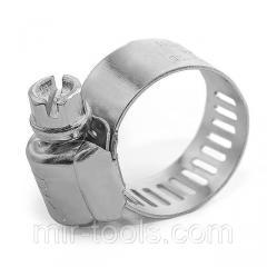 Хомут стальной оцинкованный 12,7 мм D 16-25 мм (упаковка 10 шт) INTERTOOL TC-0116 Intertool