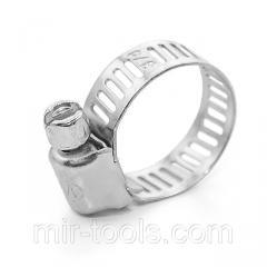 Хомут стальной оцинкованный 8 мм D 11-20 мм (упаковка 10 шт) INTERTOOL TC-0011 Intertool