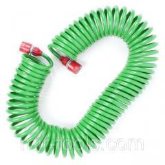 Шланг для полива спиральный 15 м с конекторами +
