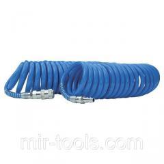 Шланг спиральный полиуретановый 8*12 мм, 15м с быстроразъемными соединениями INTERTOOL PT-1717 Inter