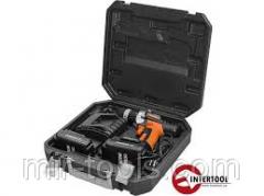 Шуруповерт STORM, 18В, 2 скорости, 0-400/0-1150об/мин, 2 аккумулятора, 1 час. зарядка INTERTOOL WT-0 WT-0318.00