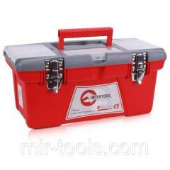 Ящик для инструментов с металлическими замками, 16 415x210x190 мм INTERTOOL BX-0516 Intertool
