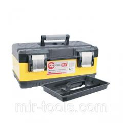 Ящик для инструментов с металлическими замками, 19,5 498x289x222 мм INTERTOOL BX-2019 Intertool
