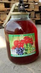 Juice apple and grape