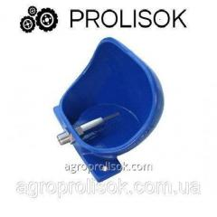 Pig-iron drinking bowls for sows and male pigs with the steel valve from stainless steel