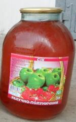 Juice apple and strawberry, wholesale