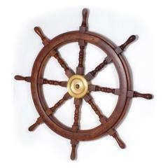 The steering wheel is ship