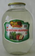 Juice birch and apple, wholesale