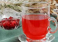 Juice apple and cranberry, bank glass, 3 l.
