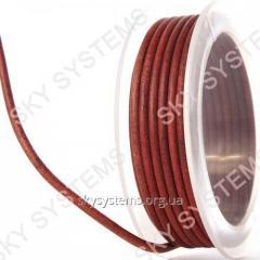 3,0 мм Кожаный шнур | Цвет: Коричневый Антик