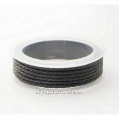 2.0 мм Плетеный вощеный шнур Скай | Цвет: Черный 01