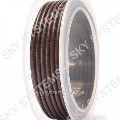 4,0 мм Кожаный шнур | Цвет: Коричневый
