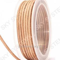 3,0 мм Кожаный шнур | Цвет: Телесный