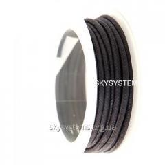 3.0 мм Гладкий вощеный шнур | Цвет: Черный