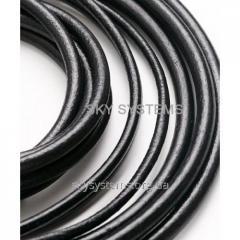 4,0 мм Кожаный шнур | Цвет: Черный (Испания)