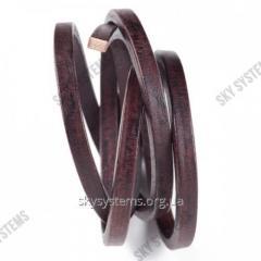 8 x 5 мм, Темно-коричневый | Кожаный шнур Regaliz | Испания