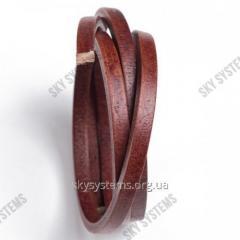 8 x 5 мм, Коричневый | Кожаный шнур Regaliz | Испания