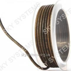 3,0 мм Кожаный шнур | Цвет: Антик коричневый /5 матовый