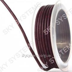 3,0 мм Кожаный шнур | Цвет: Антик бордовый матовый