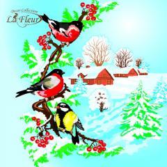 Салфетка ТМ La Fleur 33х33, Зимний день