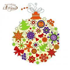 Салфетка ТМ La Fleur 33х33, Новогодняя игрушка