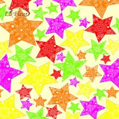 Салфетка ТМ La Fleur 33х33, Новогодние звезды