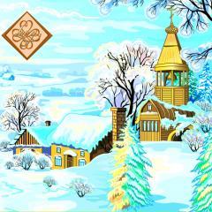 Салфетка ТМ Luxy 33х33, Зимний вечер